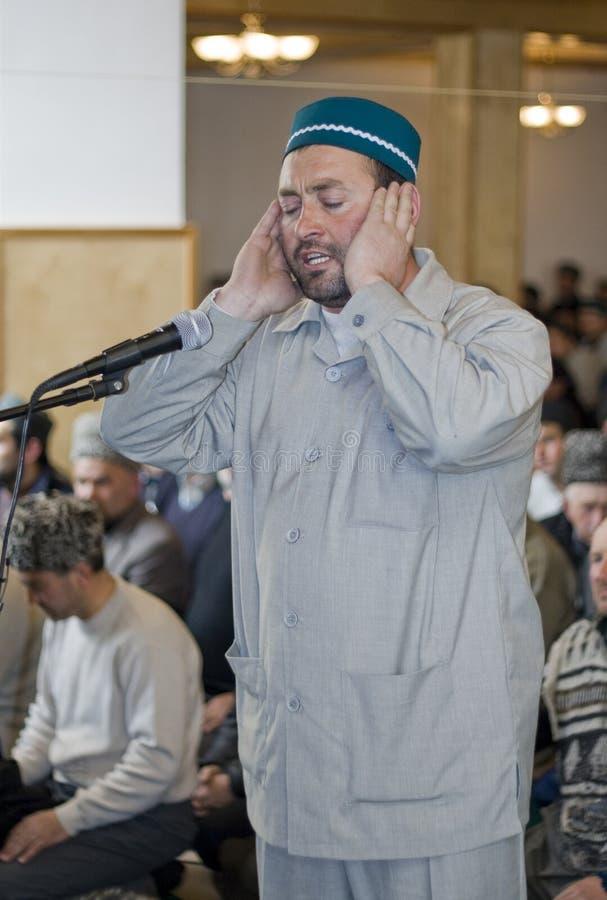 Azan - ein Anklang auf einem Gebet lizenzfreies stockfoto