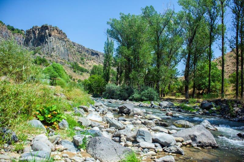 Azat River Canyon en Armenia imagen de archivo