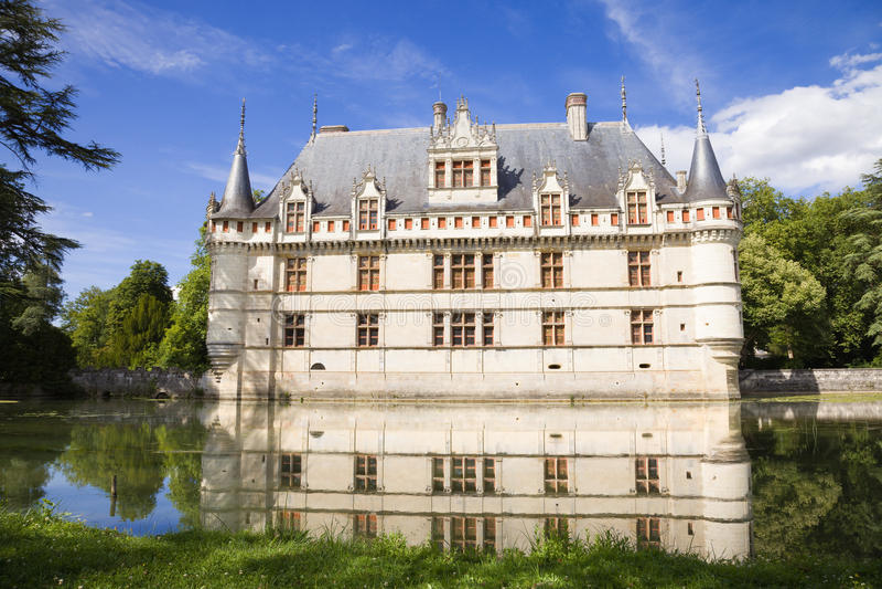 Azay-le-Rideau Castelo, France fotos de stock royalty free