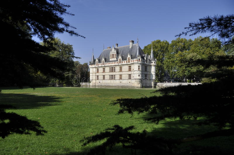 Azay-le-Rideau Castle Stock Photos