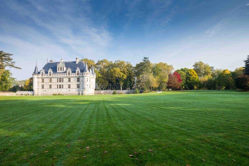 ` Azay-le-Rideau, el valle del Loira, Francia del castillo francés d fotos de archivo