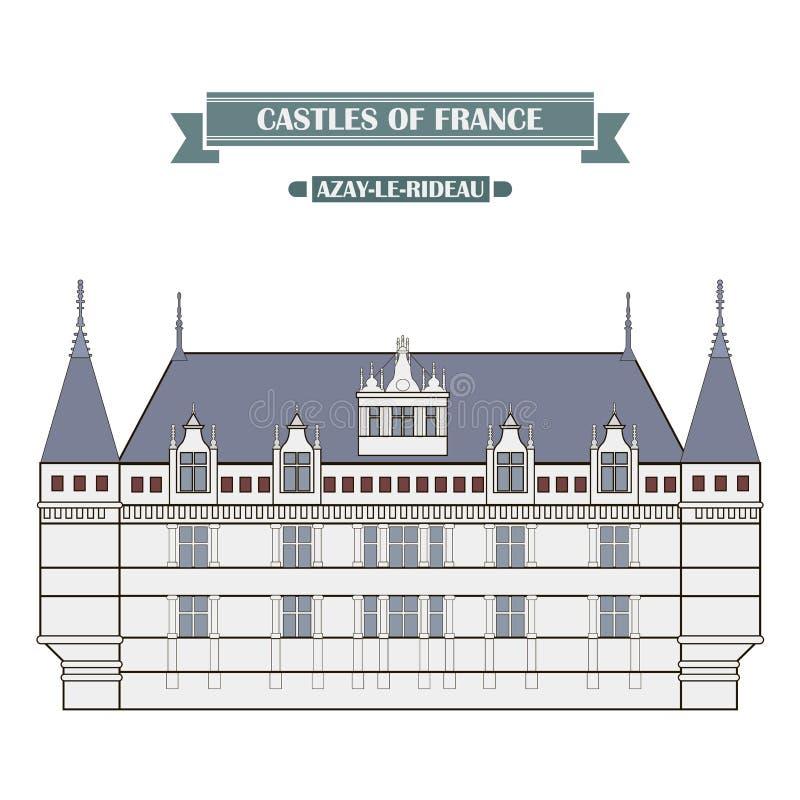 Azay-le-Rideau, França ilustração do vetor
