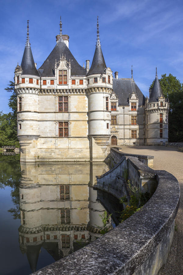 Azay Le Rideau - Loire Valley - France Stock Photo