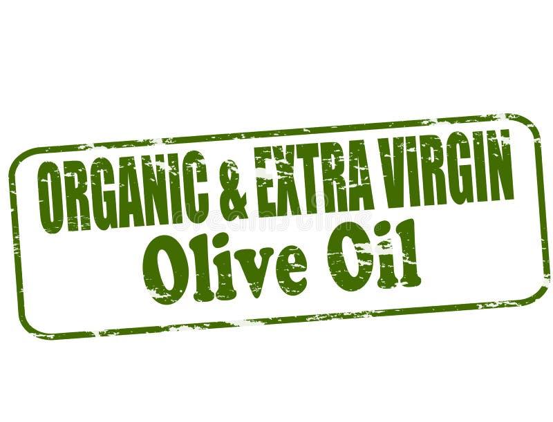 Azeite virgem orgânico e extra ilustração do vetor