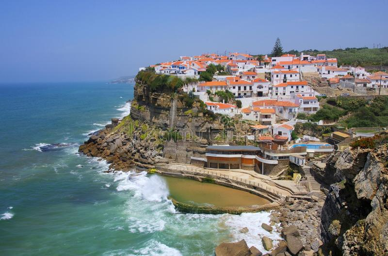 Download Azenhas do Mar stock image. Image of sintra, water, landscape - 29927679