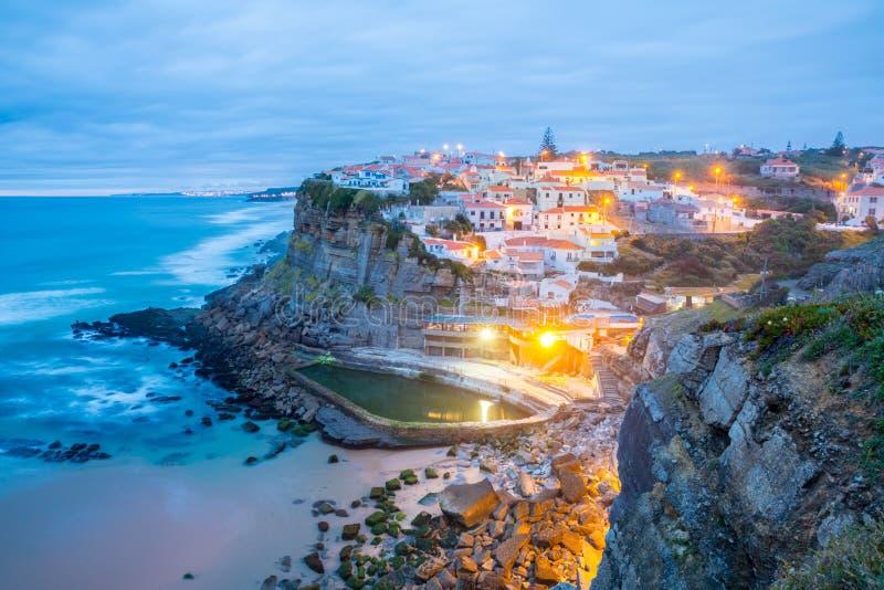 Azenhas do Mar village Sintra Portugal royalty free stock photo