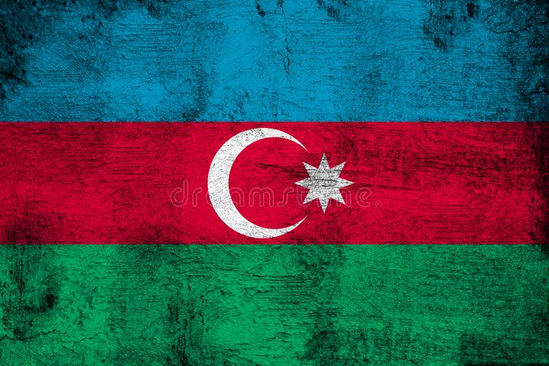 Azerbaijan. Grunge and dirty flag illustration. Perfect for background or texture purposes royalty free illustration