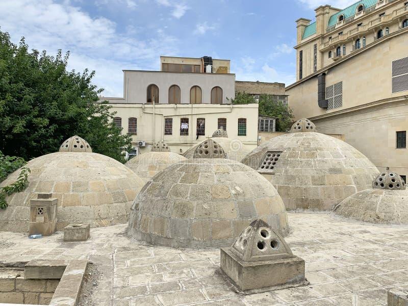 Azerbaijan, Baku city. Ancient Hamam of Kasum Bek in the historic district of Icheri Sheher Old town in Baku.  royalty free stock photos