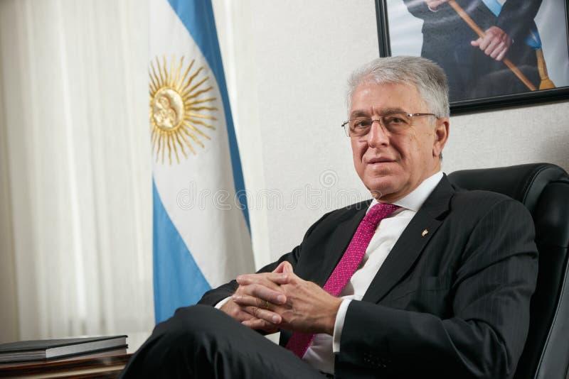 Azerbaijan, Baku - January 10, 2018: Ambassador Carlos Dante Riv. A portrait. Ambassador of Argentina to Azerbaijan Mr.Carlos dante riva stock photography