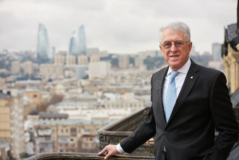 Azerbaijan, Baku - January 10, 2018: Ambassador Carlos Dante Riv. A portrait. Ambassador of Argentina to Azerbaijan Mr.Carlos dante riva stock photos