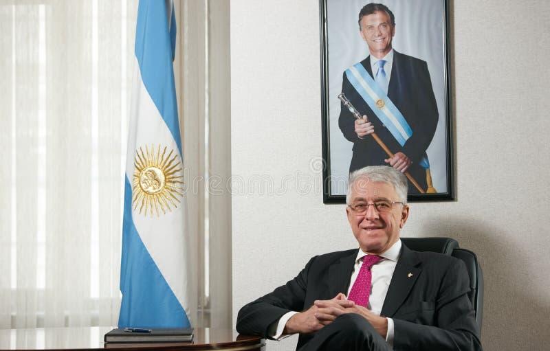 Azerbaijan, Baku - January 10, 2018: Ambassador Carlos Dante Riv. A portrait. Ambassador of Argentina to Azerbaijan Mr.Carlos dante riva royalty free stock photos