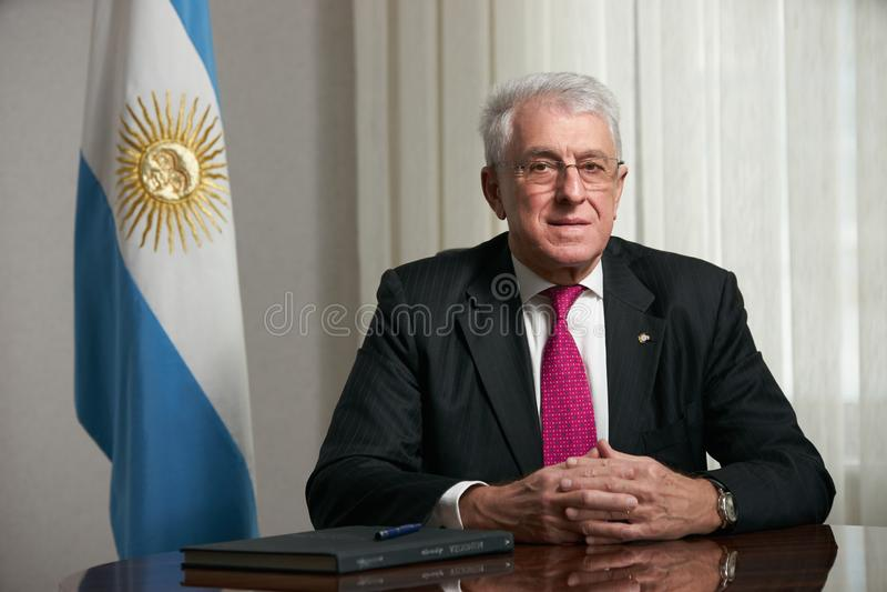 Azerbaijan, Baku - January 10, 2018: Ambassador Carlos Dante Riv. A portrait. Ambassador of Argentina to Azerbaijan Mr.Carlos dante riva stock photo