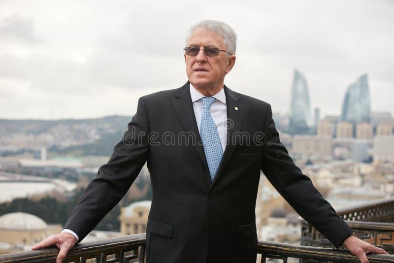 Azerbaijan, Baku - January 10, 2018: Ambassador Carlos Dante Riv. A portrait. Ambassador of Argentina to Azerbaijan Mr.Carlos dante riva royalty free stock image