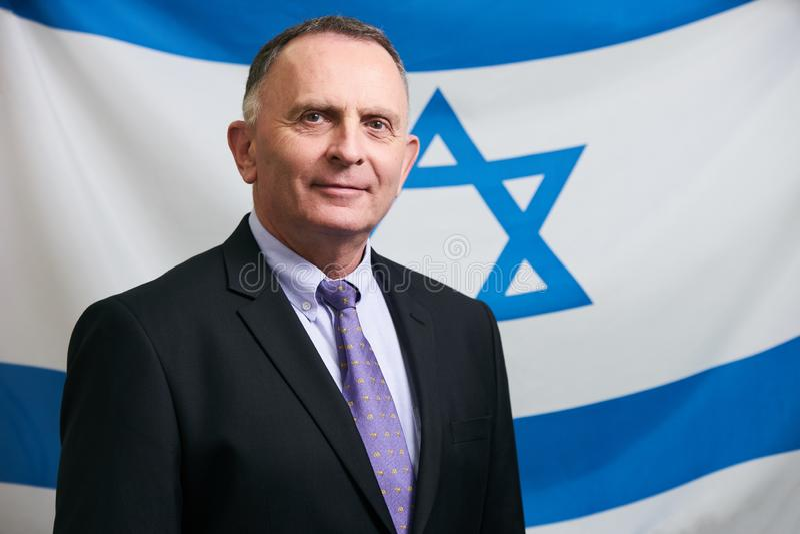 Azerbaijan, Baku - June 07, 2018: Ambassador Dan Staw portrait. Israeli Ambassador to Azerbaijan Mr. Dan Staw royalty free stock image