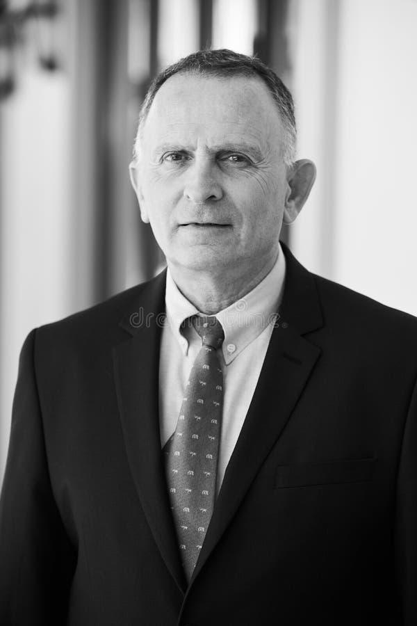 Azerbaijan, Baku - June 07, 2018: Ambassador Dan Staw portrait. Israeli Ambassador to Azerbaijan Mr. Dan Staw stock images