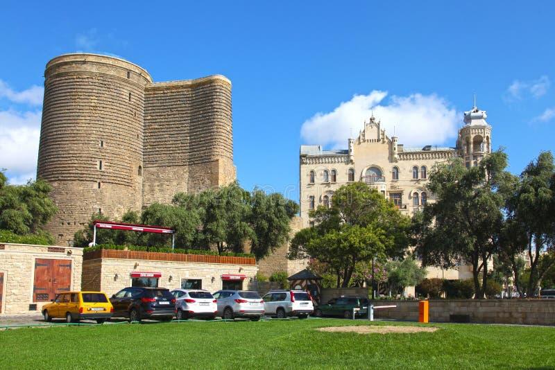 Azerbaijan. Baku. Maiden Tower stock photos