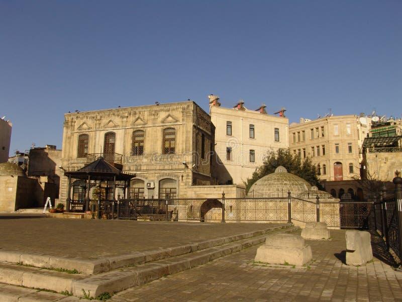 azerbaijan baku Vista de las calles de la ciudad Ciudad vieja fotos de archivo