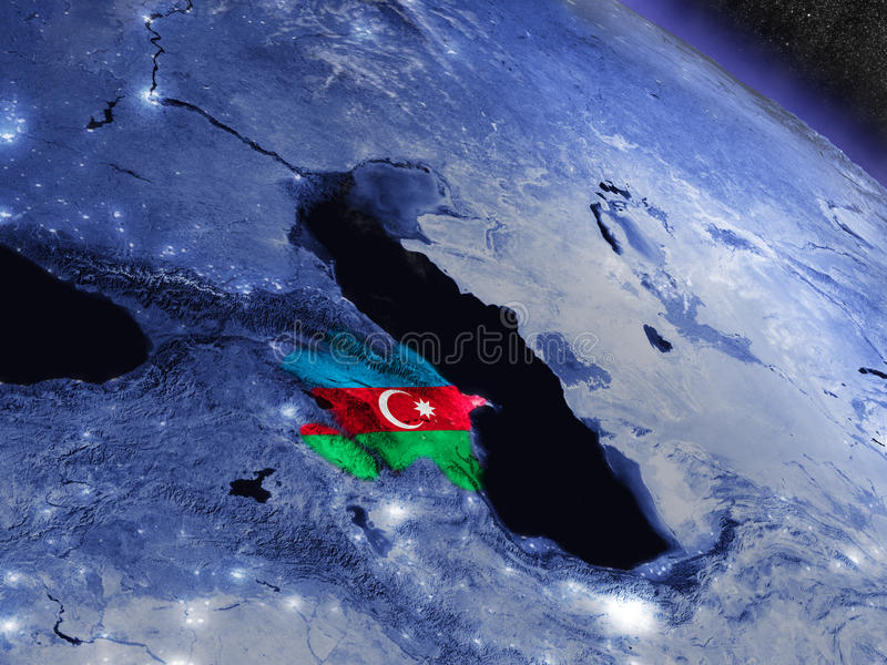 Azerbaijan con la bandera integrada del espacio libre illustration