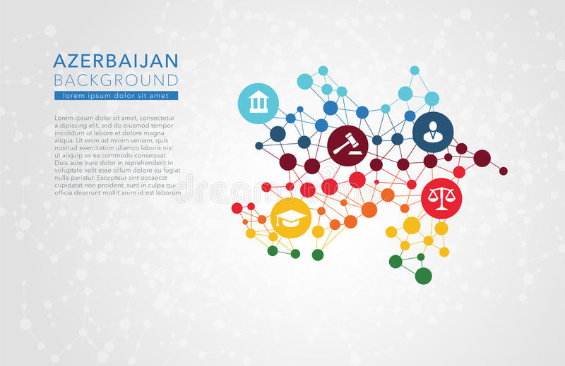 Azerbaijan dotted vector background. Conceptual infographic report vector illustration