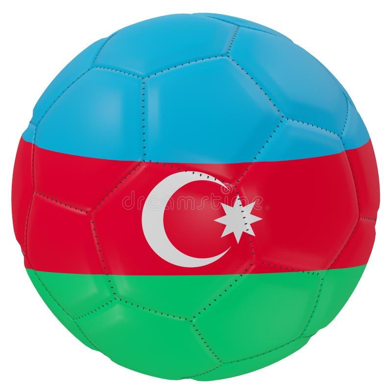 Azerbaijan flag on a soccer ball royalty free illustration