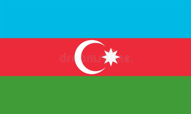 Azerbaijan Flag. Vector image and icon stock illustration