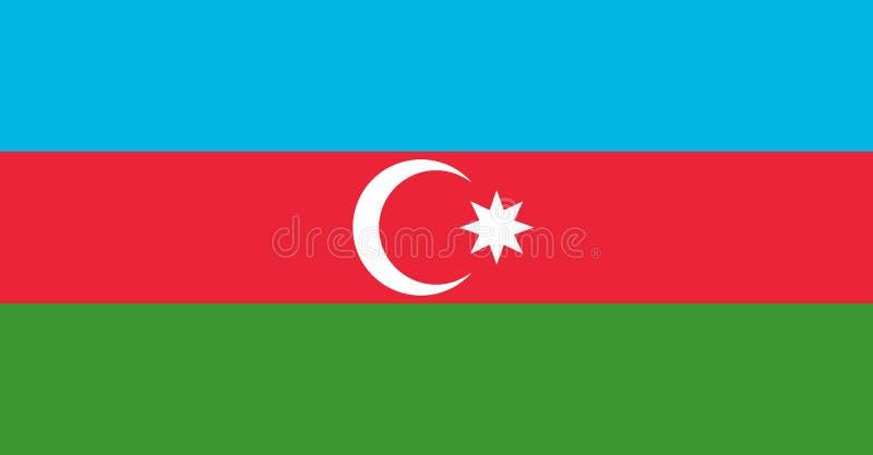 azerbaijan flagga vektor illustrationer
