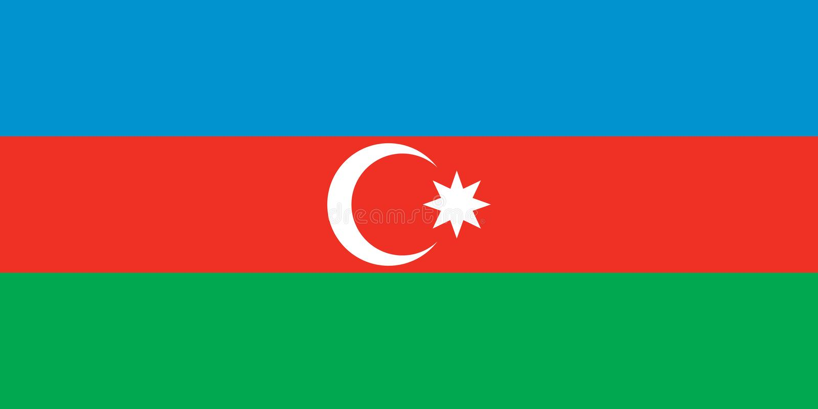 azerbaijan flagga stock illustrationer