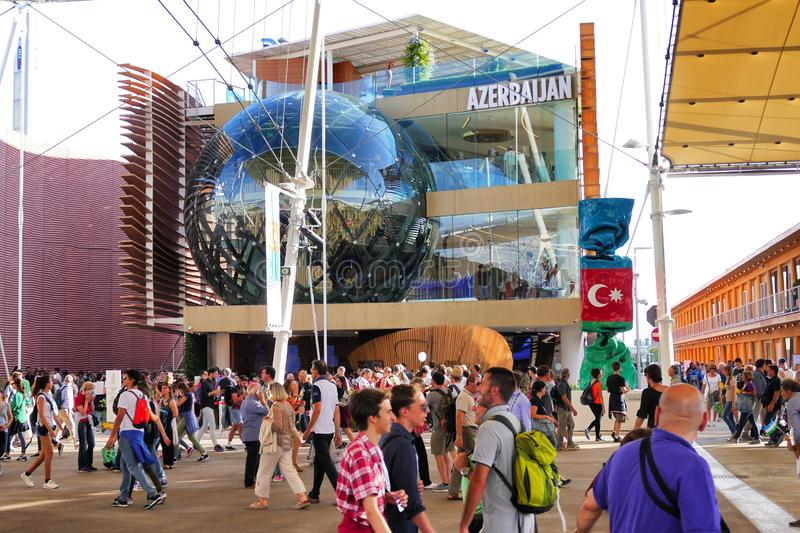 Azerbaijan pavillion at Expo 2015 Milan stock image