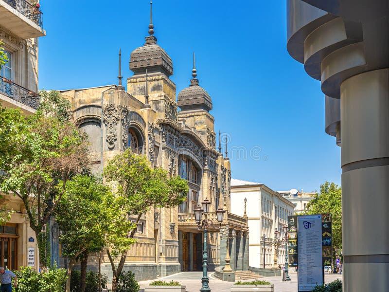 Azerbaijan state academic Opera and ballet theatre. Baku, Azerbaijan, 07.25.2019. Azerbaijan state academic Opera and ballet theatre in Baku, the capital of stock image