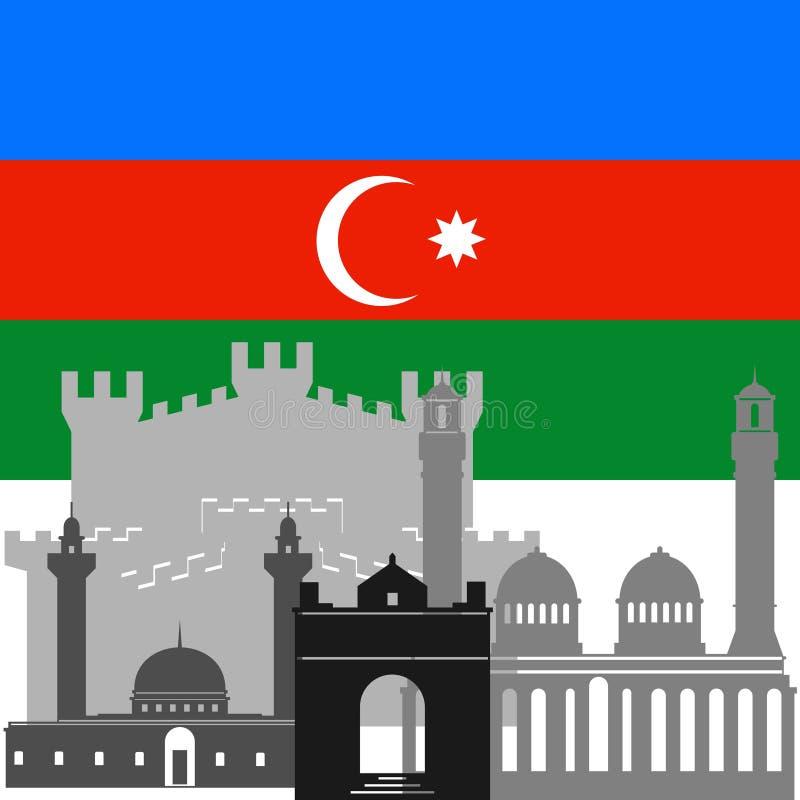 Download Azerbaijan stock vector. Image of landmark, contour, state - 41368137