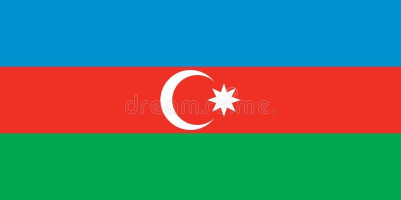 Azerbaijan vlag royalty-vrije stock fotografie