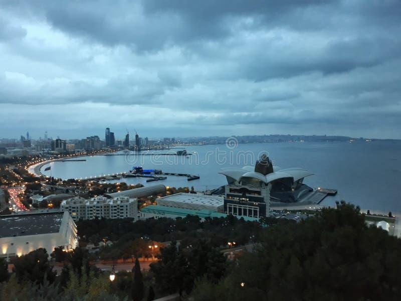 Azerbajdzjan Baku gammal stad Härliga bilder fotografering för bildbyråer