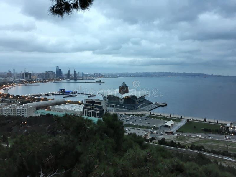 Azerbajdzjan Baku gammal stad Härliga bilder arkivbilder