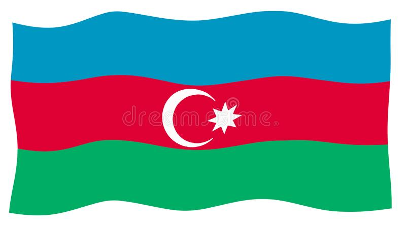 Azerbajdzjan flagga royaltyfri illustrationer