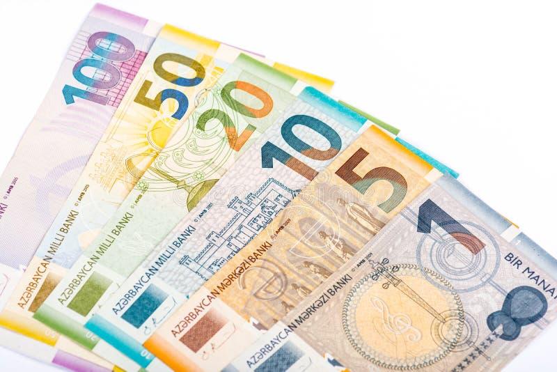 Azerbajdzjan pengar arkivfoton