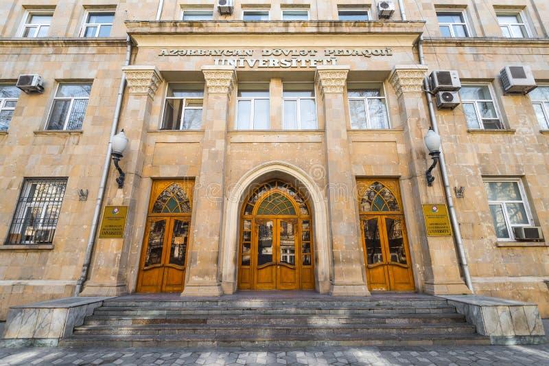 Azerbajdzjan statligt pedagogiskt universitet royaltyfri fotografi