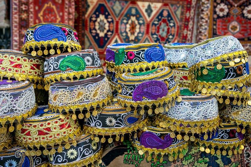 Azerbejdżański krajowy headwear zoroastrianism Azerbejdżańscy krajowi wzory budka zdjęcie stock