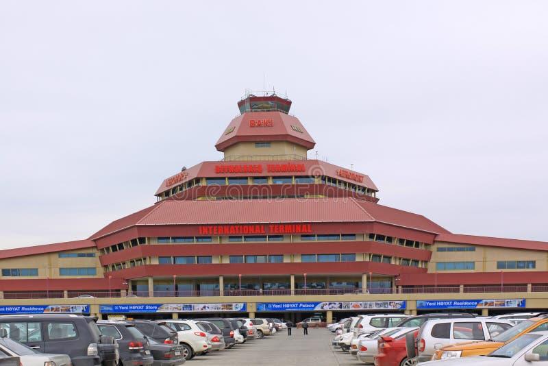 Azerbejdżan baku Lotnisko Międzynarodowe wymieniający po Heydar Aliyev obraz royalty free