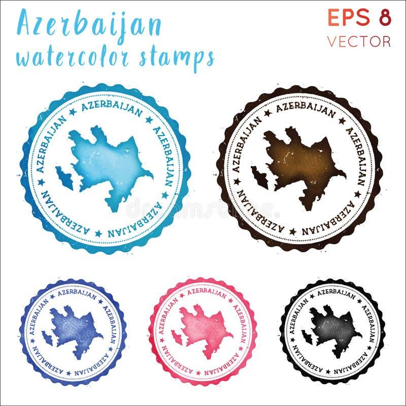 Azerbejdżan znaczek ilustracji