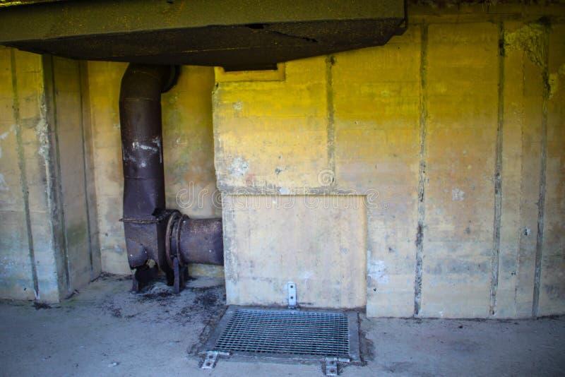 Azeville batteribunker Normadia Frankrike Tyskt defensivt läge i det andra världskriget arkivbilder