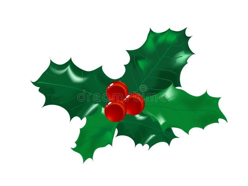 Azevinho do Natal ilustração do vetor