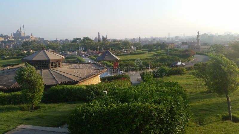 Azhar Park, Il Cairo, Egitto immagini stock libere da diritti