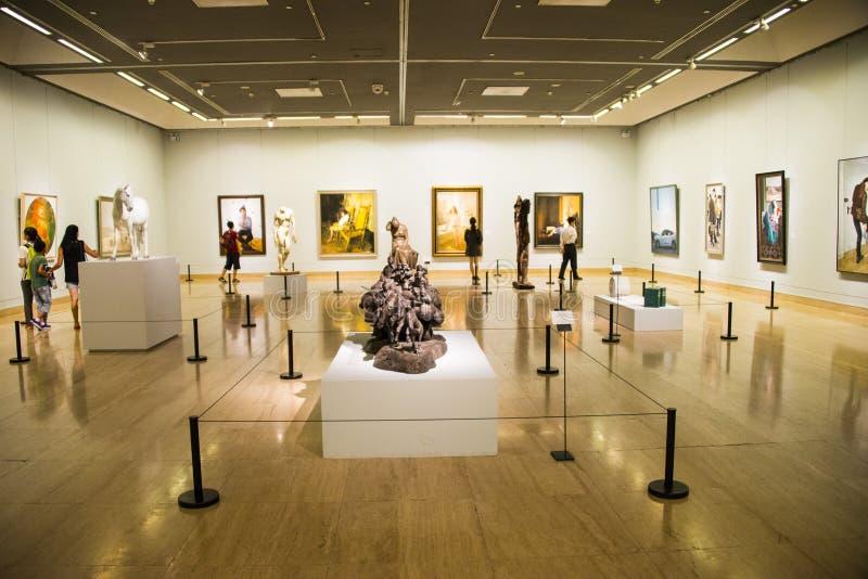 Azië China, Peking, China Art Museum, Beeldhouwwerk, kunsttentoonstelling stock afbeeldingen