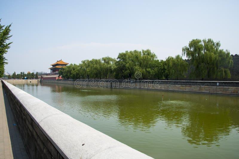 Azië China, Peking, het Keizerpaleis, het Noordenpoort royalty-vrije stock fotografie
