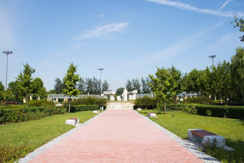 Azië China, Peking, Jianhe-Park, Landschap architectureï ¼ Œ royalty-vrije stock afbeelding