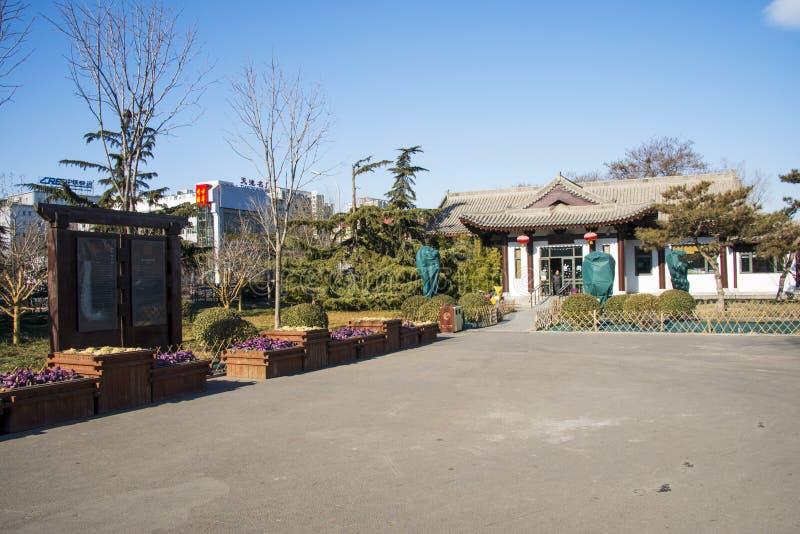Azië, China, Peking, jingzhongdupark, landschapsarchitectuur stock afbeeldingen