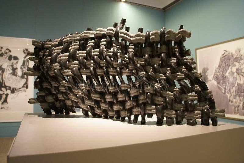 In Azië, China, Peking, kunstmuseum, de lay-out van de tentoonstellingszaal, binnenlands ontwerp royalty-vrije stock foto