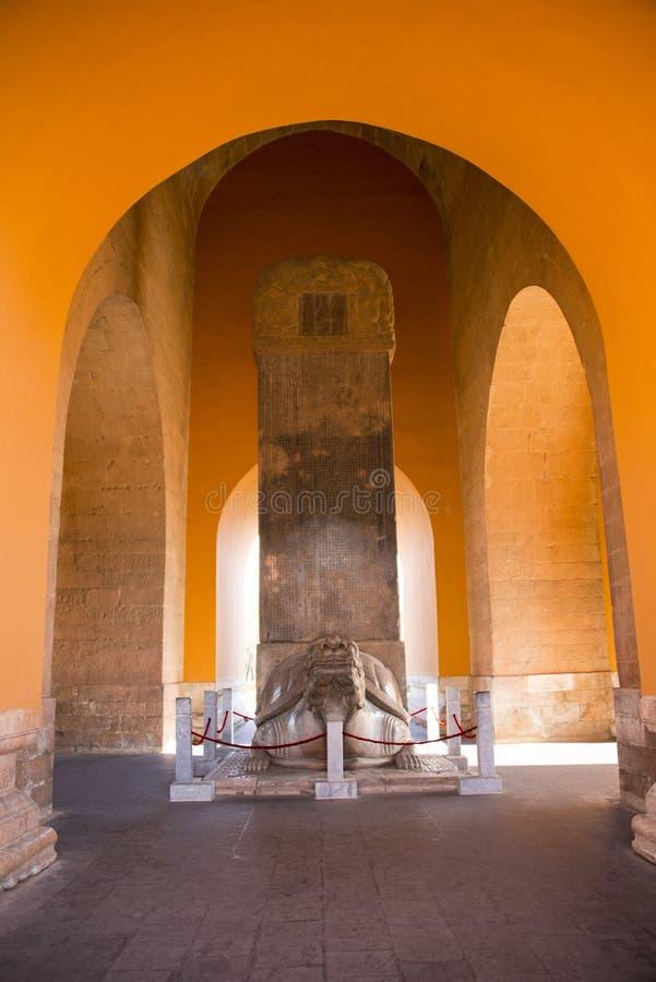 Azië China, Peking, Ming Dynasty Tombs, het monument van de Steenschildpad stock afbeelding