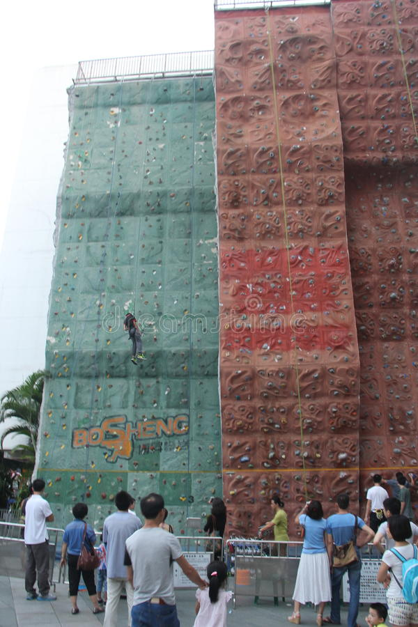 Azië China shenzhen het bergbeklimming opleidingsgebied stock afbeelding