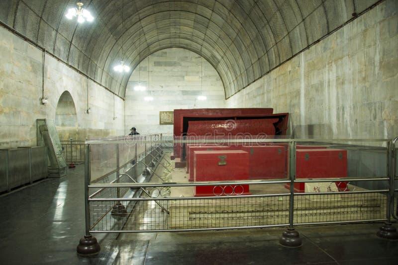 Azië Chinees, Peking, het graf Œunderground palaceï ¼ ŒUnderground van Ming Dynasty Tombsï ¼ royalty-vrije stock afbeeldingen